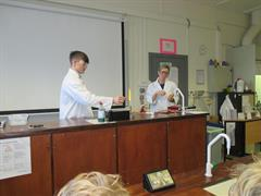 A trip to the science lab in the senior school