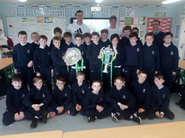 Grand Slam and Six Nations Trophies Visit St.Michael's