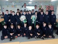 Grand Slam and Six Nations Trophies Visit St.Michael