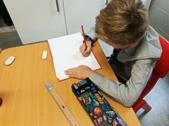 Working hard on recount writing