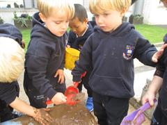 We love to get mucky in the sand