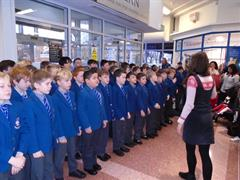 Carol Singing in the Merrion Centre