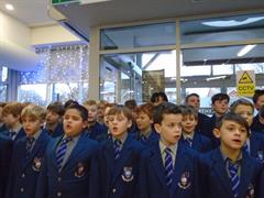 Caroling in the Merrion Centre