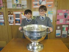 Sam Maguire comes to St. Michael