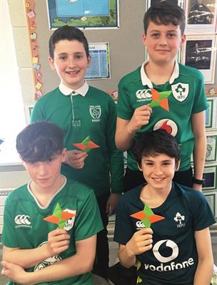 Our St. Patrick's Day Ninja Stars!