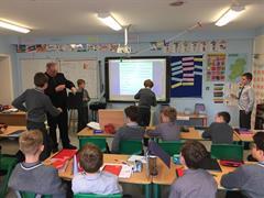 Fr. Paddy visiting the boys