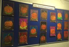 Our Oil Pastel Resist Pumpkins