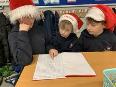 Reading Christmas Stories to First Form