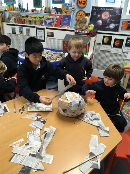 Paper Mache Planets with 6th Form