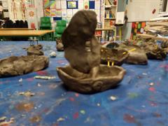 Art - Making Boats From Clay