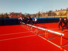 PE - Hurdling in the sunshine!