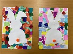 Easter Bunnies in Art Club