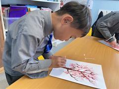 Cherry Blossom Trees in Art Club