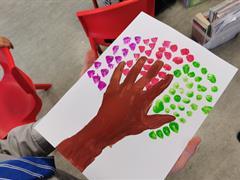 Hand Print Trees