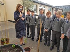 Planting A Wild Cherry Tree for National Tree Planting Day