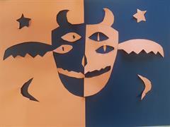 Symmetry in Halloween Art