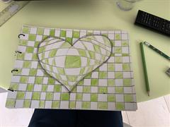 3D Optical Illusion Hearts